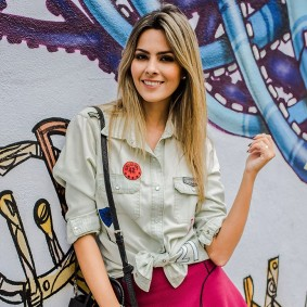 Camisa Jeans Mix Patches